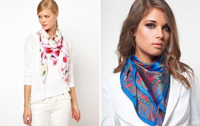 Способ завязывания шарфа с потайным узлом