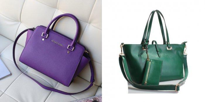 Фиолетовая или зеленая сумочка к малиновому платью