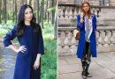 С чем носят синее пальто — модные образы 2017