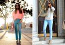Голубые брюки — универсальных вещей гардероба