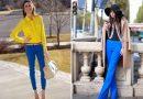 Синие брюки: ярко и модно