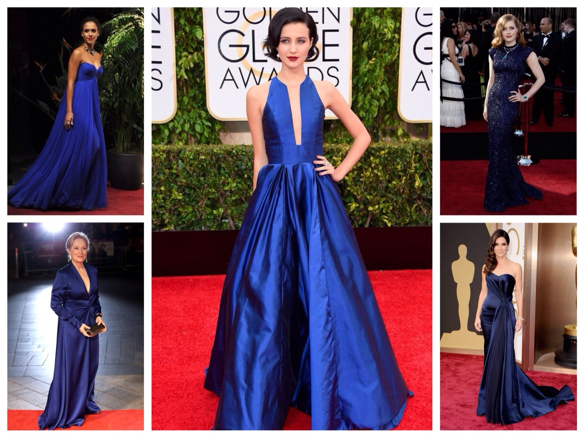 Прически под синее платье в пол