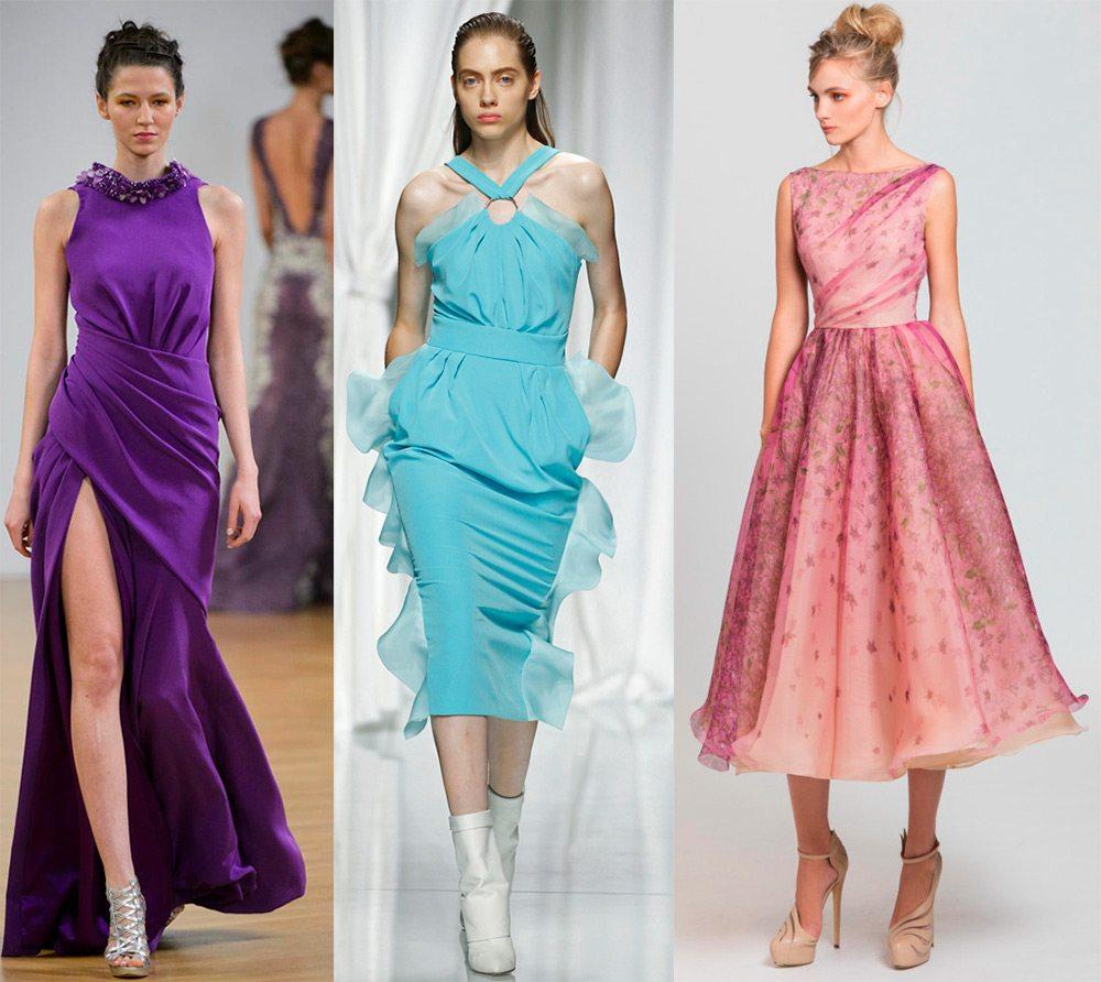 Показы дизайнерских платьев
