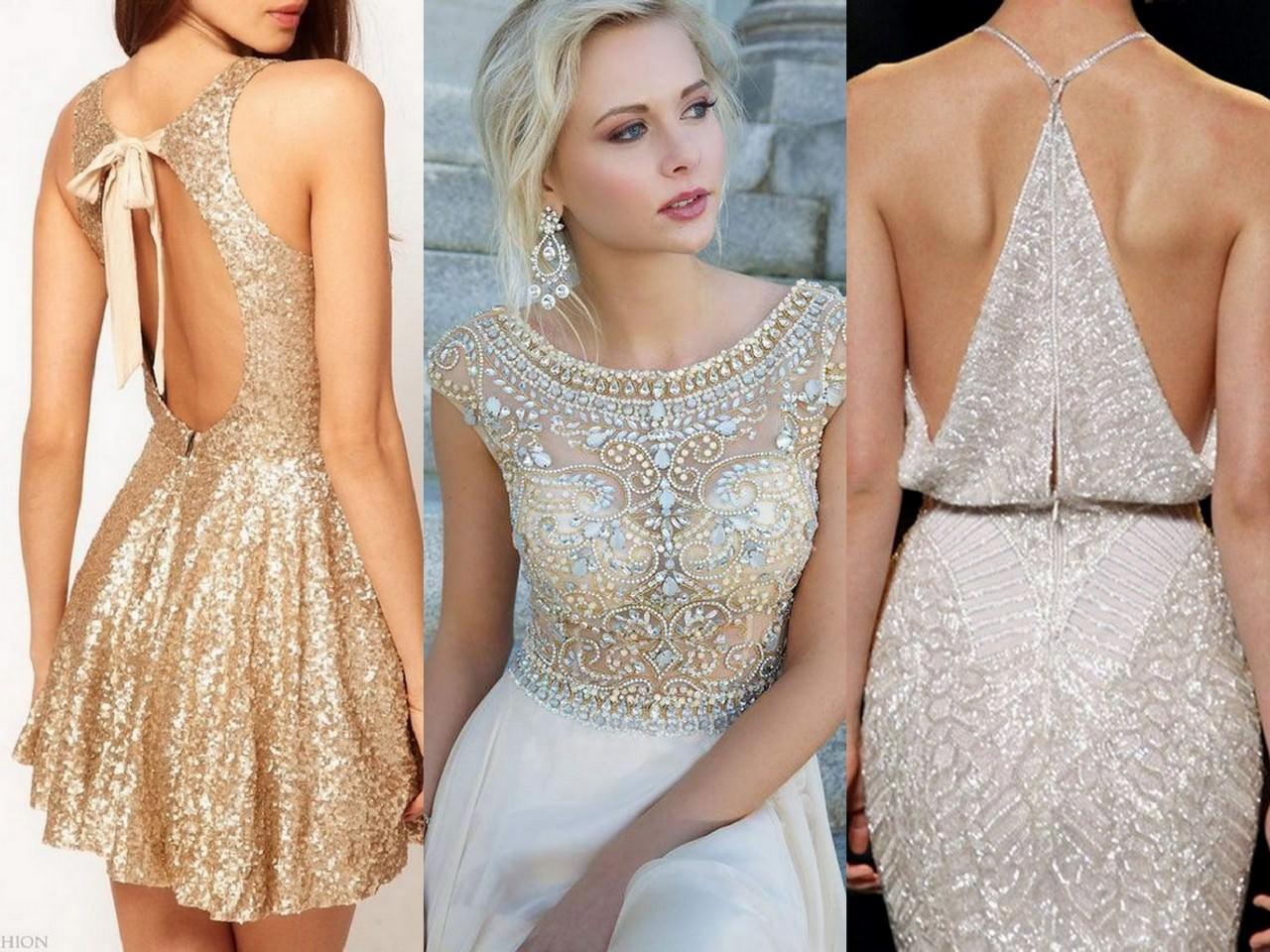 Платье укрытое бриллиантами
