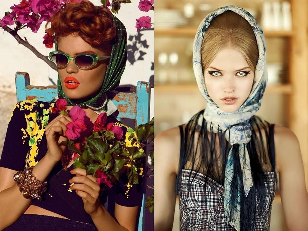 Сочетание стильной одежды и красивого платка