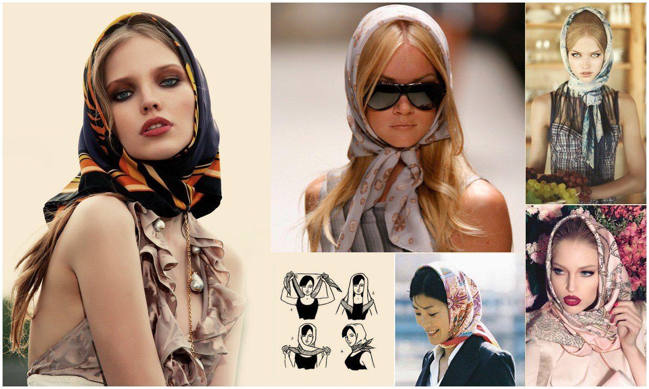 Как стильно сочетать платок