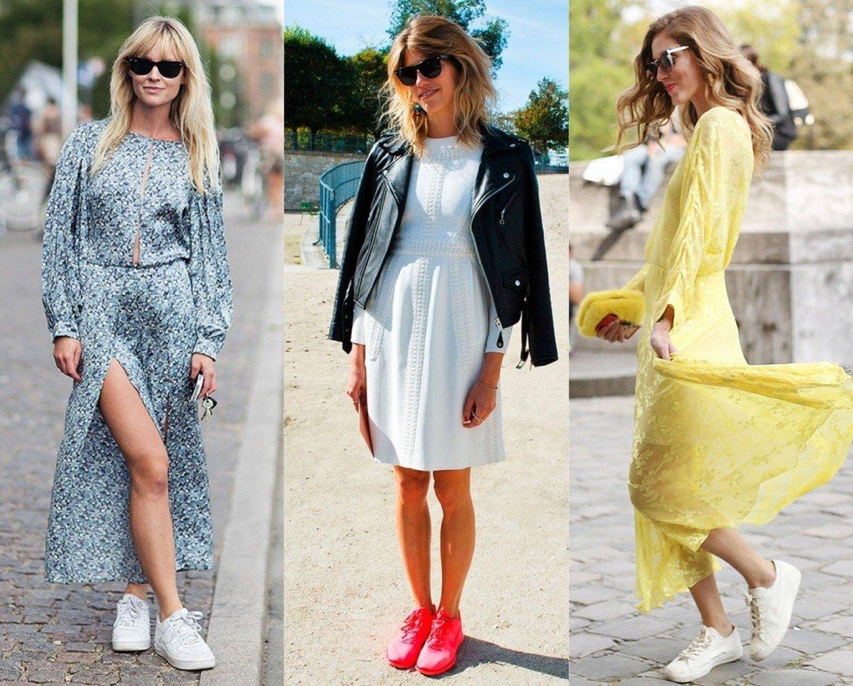 Длинные платья и кроссовки