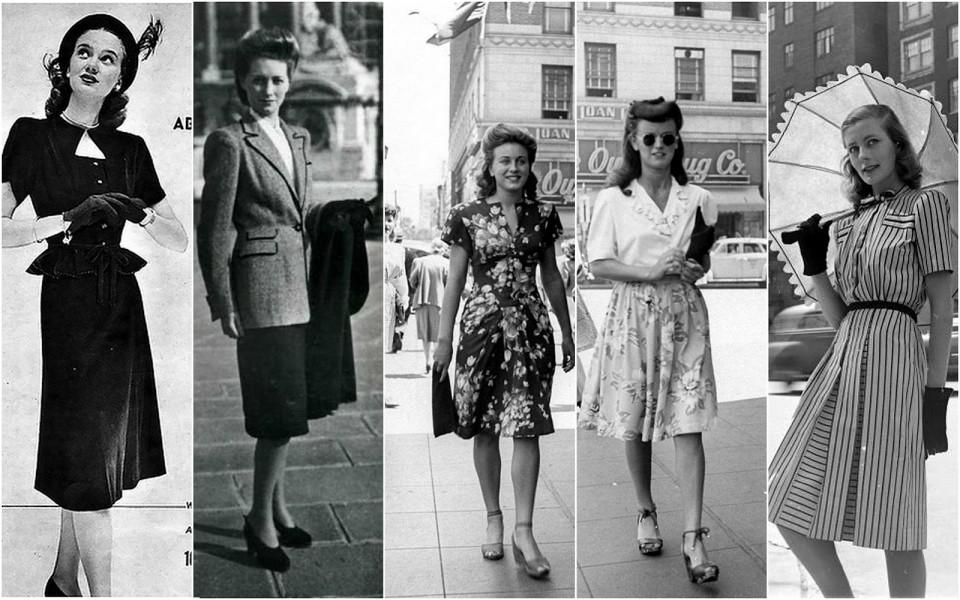 Дамы в платьях