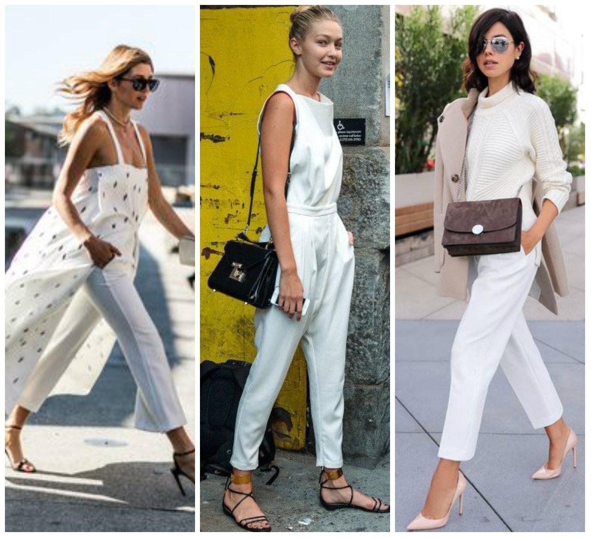 Сочетание одежды с широкими штанами