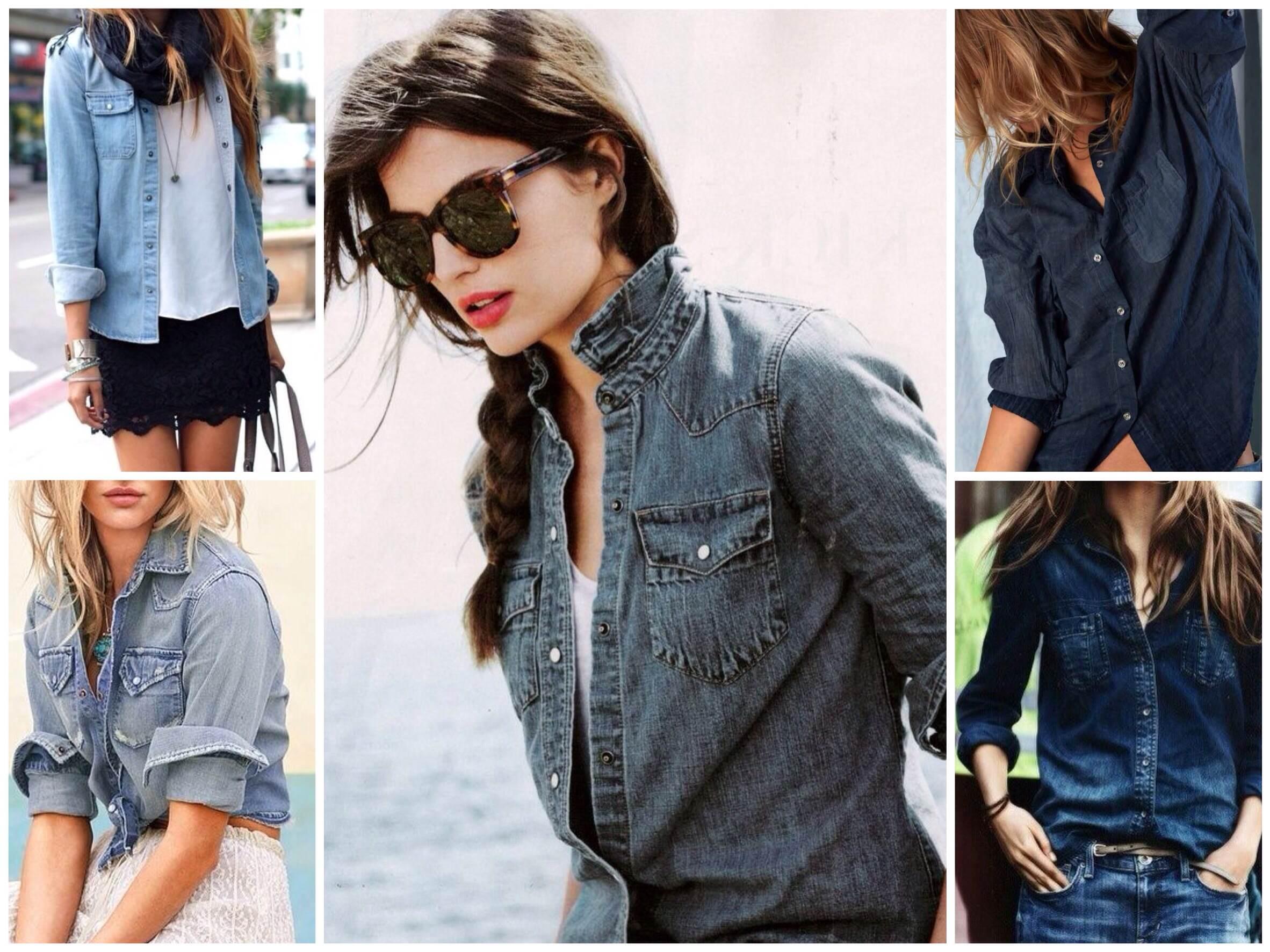 Джинсовая рубашка для стильных девушек