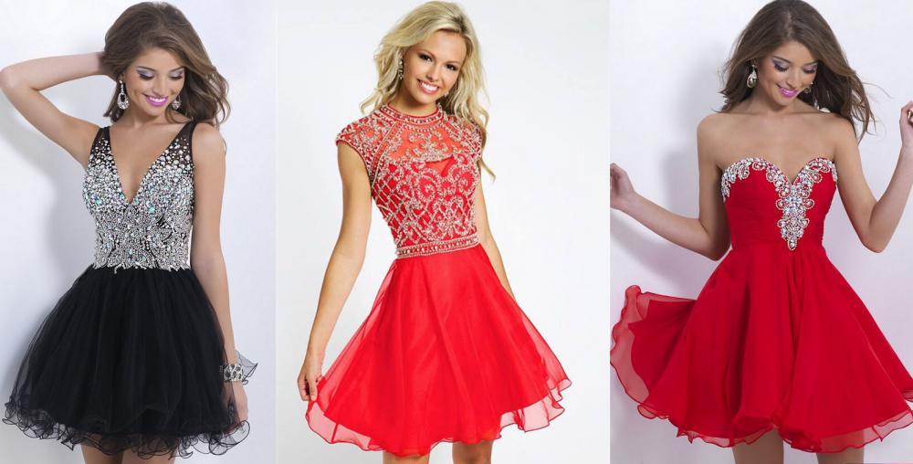 Пышные платья в разных цветах
