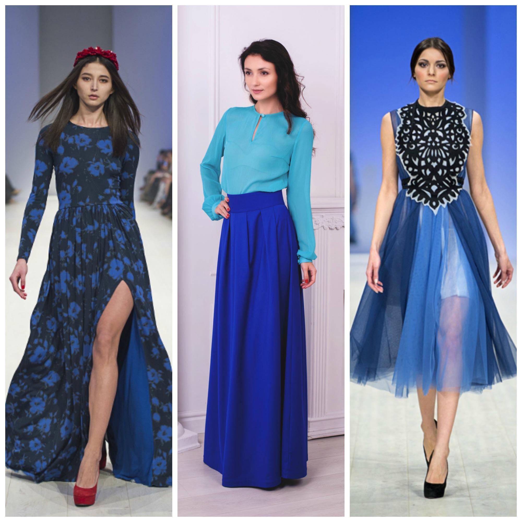 Платья в синем цвете