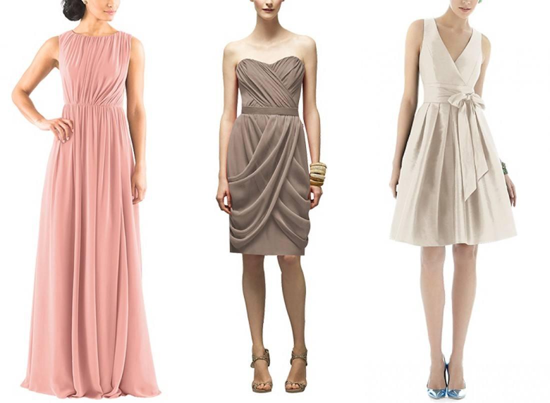 Платья нежного цвета