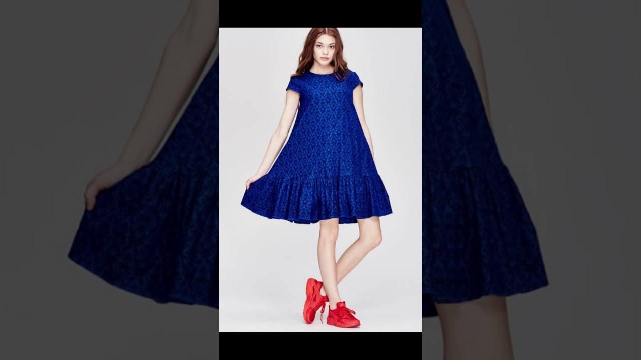 Платье в синем цвете