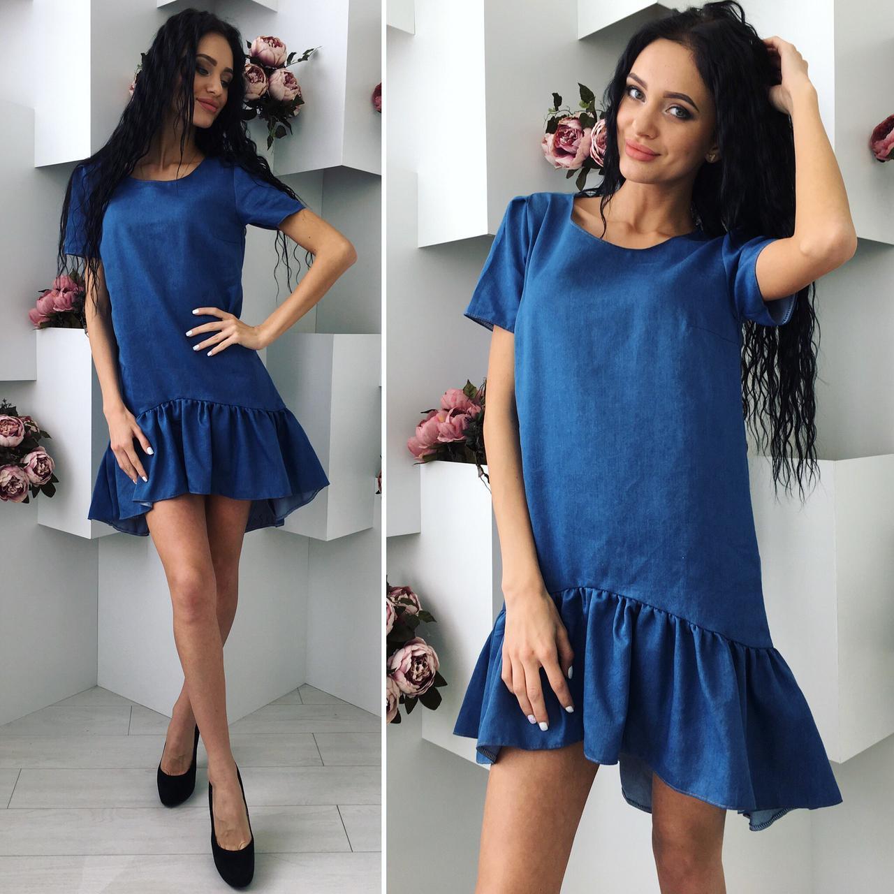 Платье из джинса