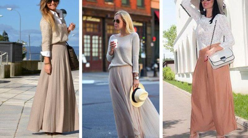 С чем можно носить бежевую юбку и какую выбрать?