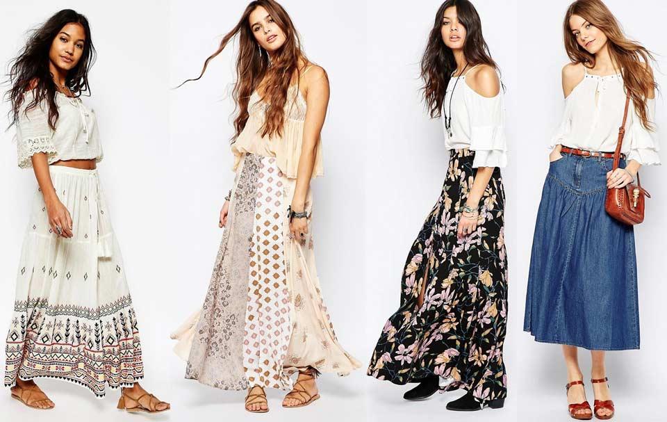 Длинные юбки в образах