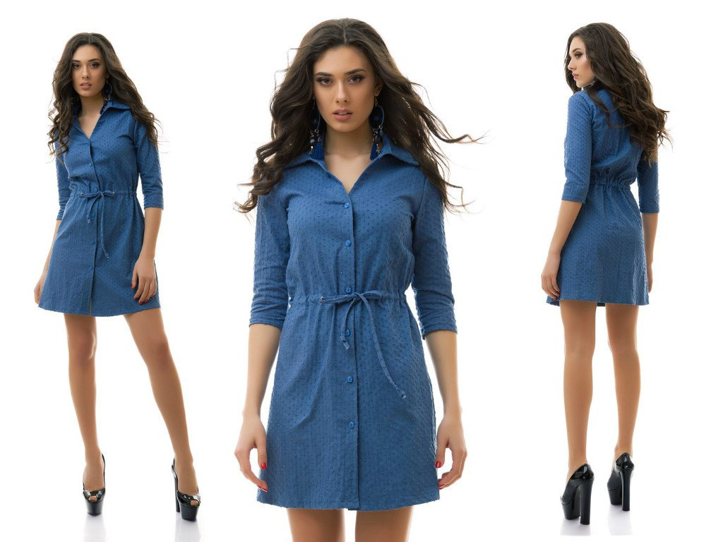 Платье- рубашка из джинса