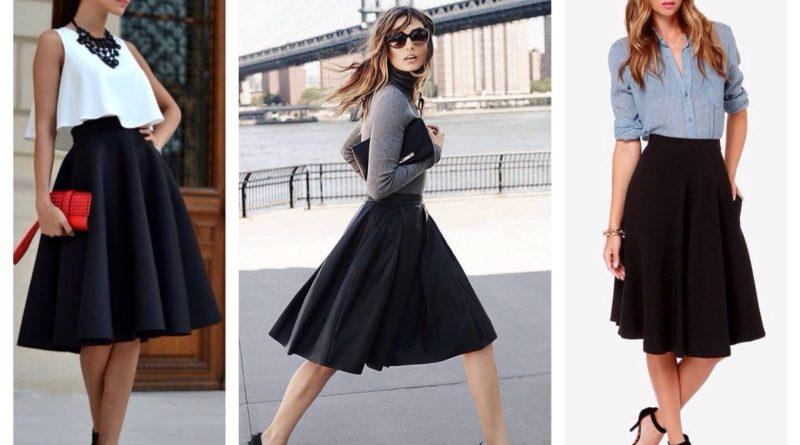 С чем носить юбку миди — модные луки и фасоны