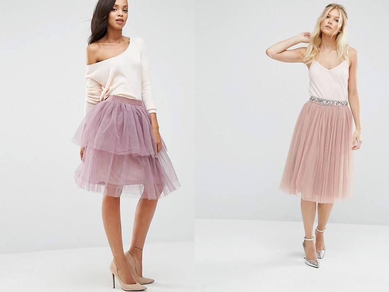 Нежная розовая юбка