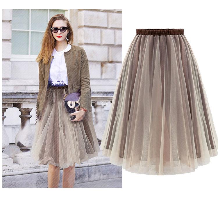 Нежный цвет юбки