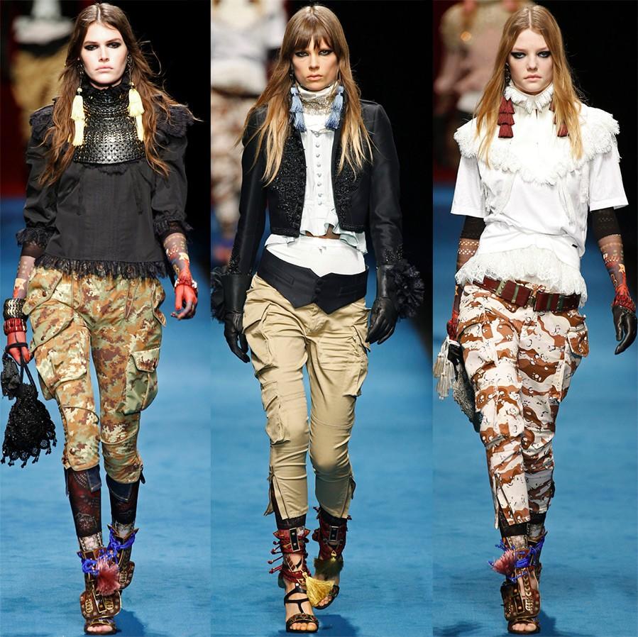 Военные штаны для девушек