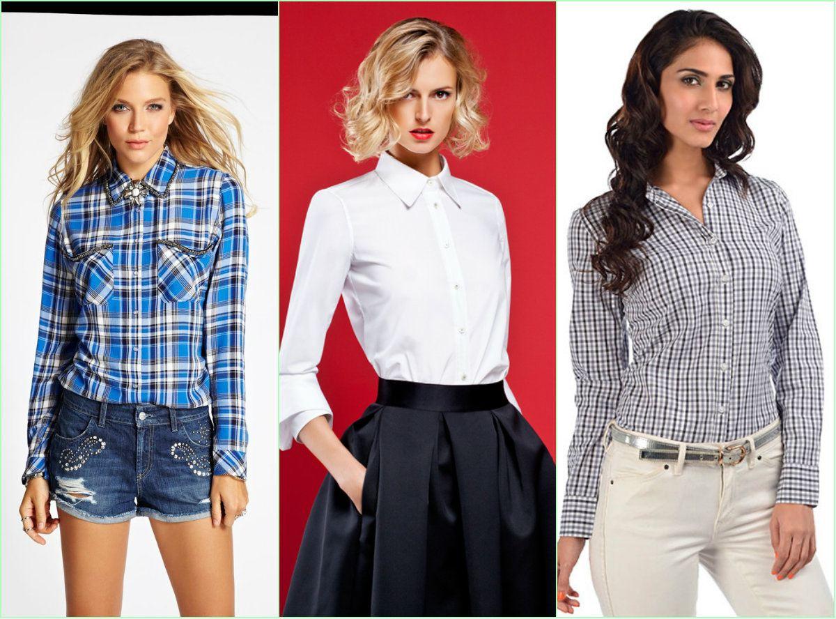 Три варианта различных рубашек