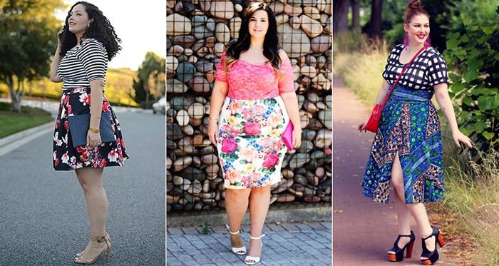 Яркие юбки для полных