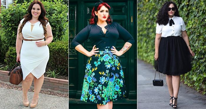 Стильные образы с юбками для полных