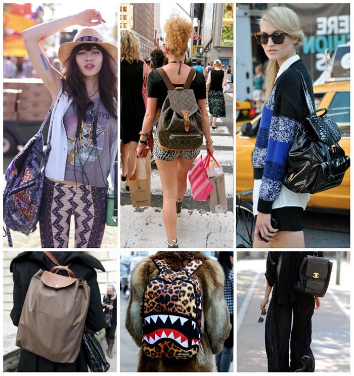 Стильные образы с рюкзаками