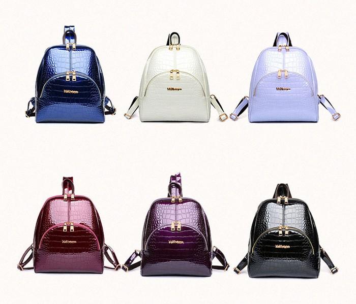 Лакированные рюкзаки