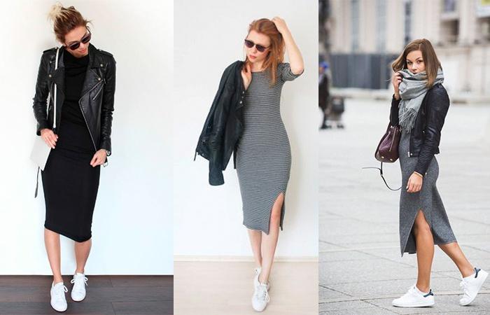 fa88125bfd90b80 Платье-лапша 2018 (фото): с чем носить платья ниже колена или с ...