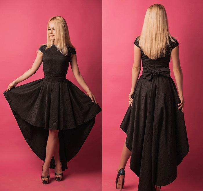 Фото мятное платье в пол 15