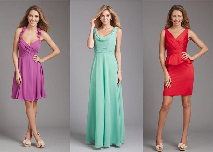 Платья разной длины