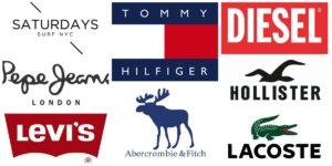 e480e0611a4 Бренды одежды  список модных брендов и логотипов (топ-100)
