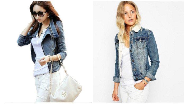 Объемные воротники на джинсовых куртках