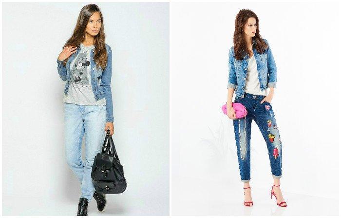 Образ джинсовой куртки с джинсами