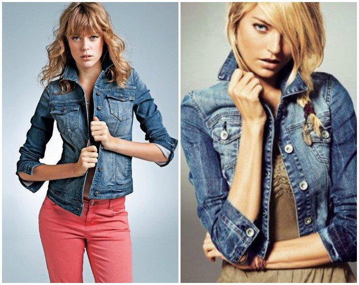 Девушки в джинсовых жакетом