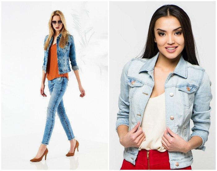 Яркий образ с джинсовым жакетом