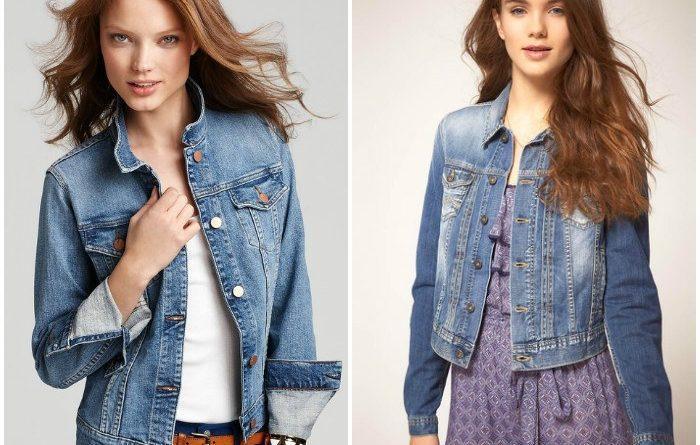 Сочетание джинсового жакета с элементами гардероба