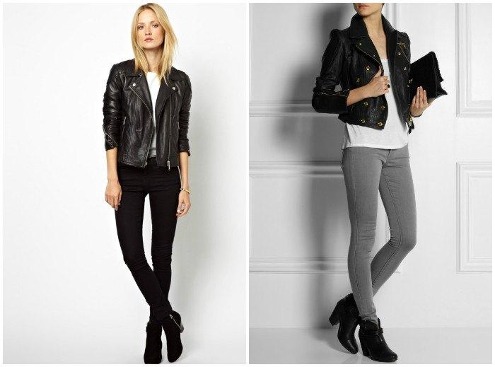Сочетание куртки-косухи с элементами гардероба