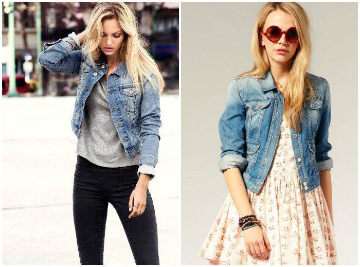 Стильная куртка-косуха из джинсы