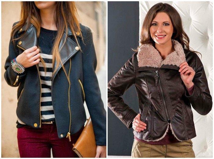 Модная куртка-косуха из дубленой кожи