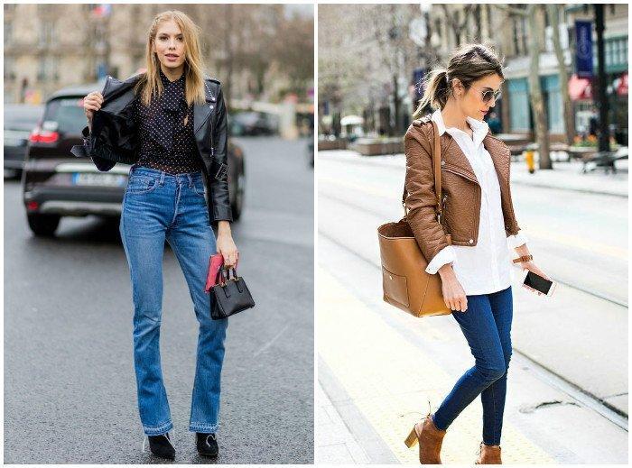 Сочетание куртки-косухи с джинсами