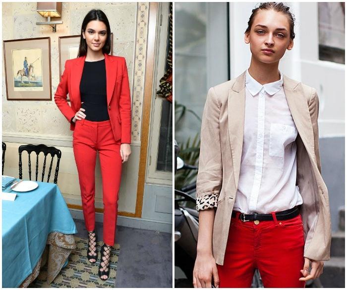 Классический образ с красными штанами