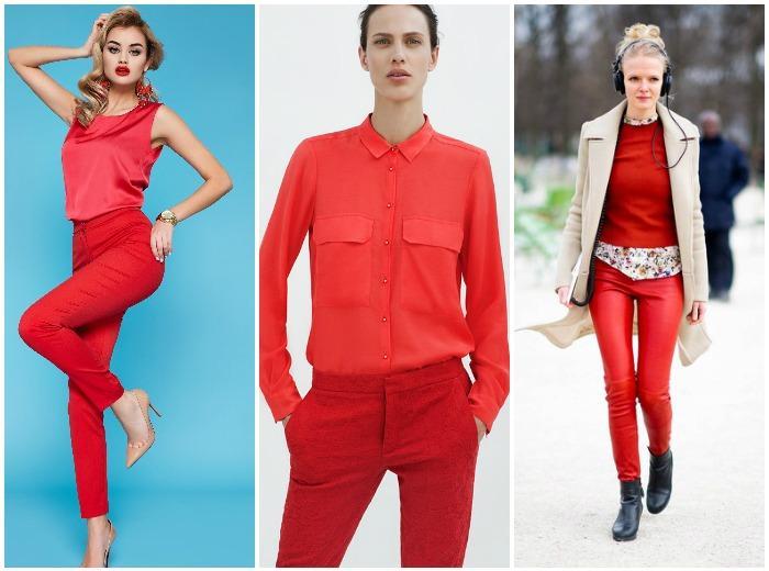 Красные штаны с красным верхом