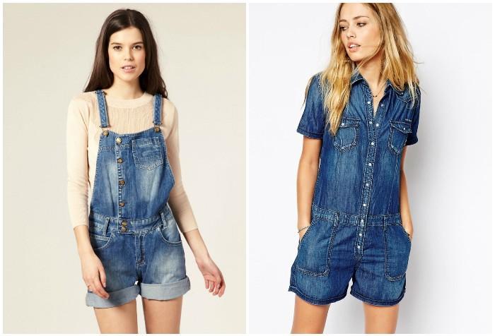 Летний джинсовый комбинезон для девушек