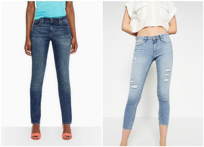 Зауженные джинсы на моделях