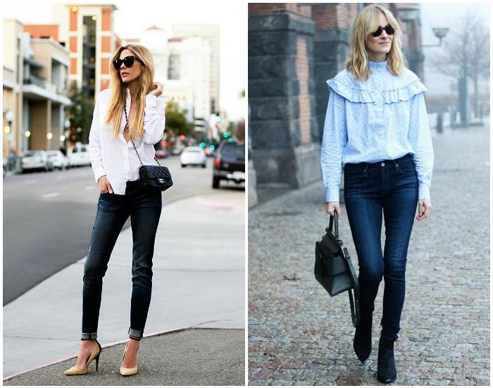 Городской стиль с джинсами