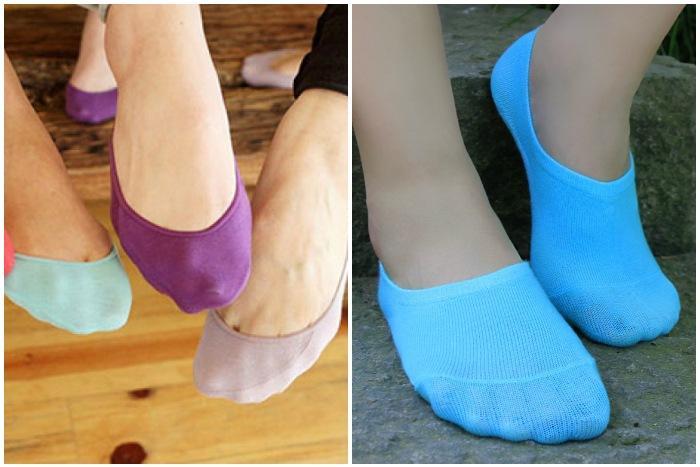 Цветные носки-невидимки
